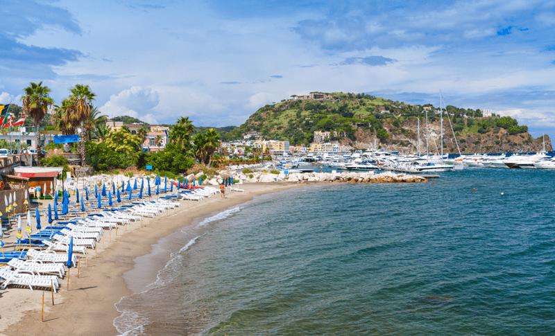 Lacco Ameno beach_Ischia_Villa Italy