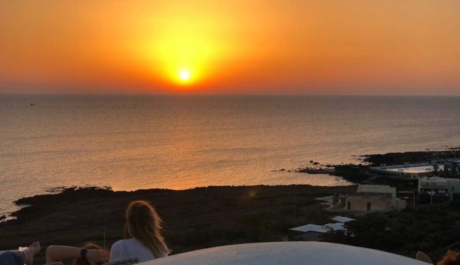 Sesiventi on Pantelleria view of sunset