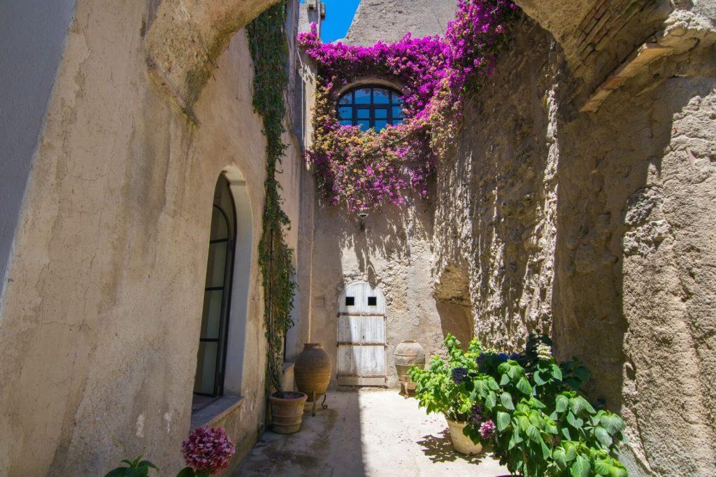 Inside Aragonese Castle Ischia Italy