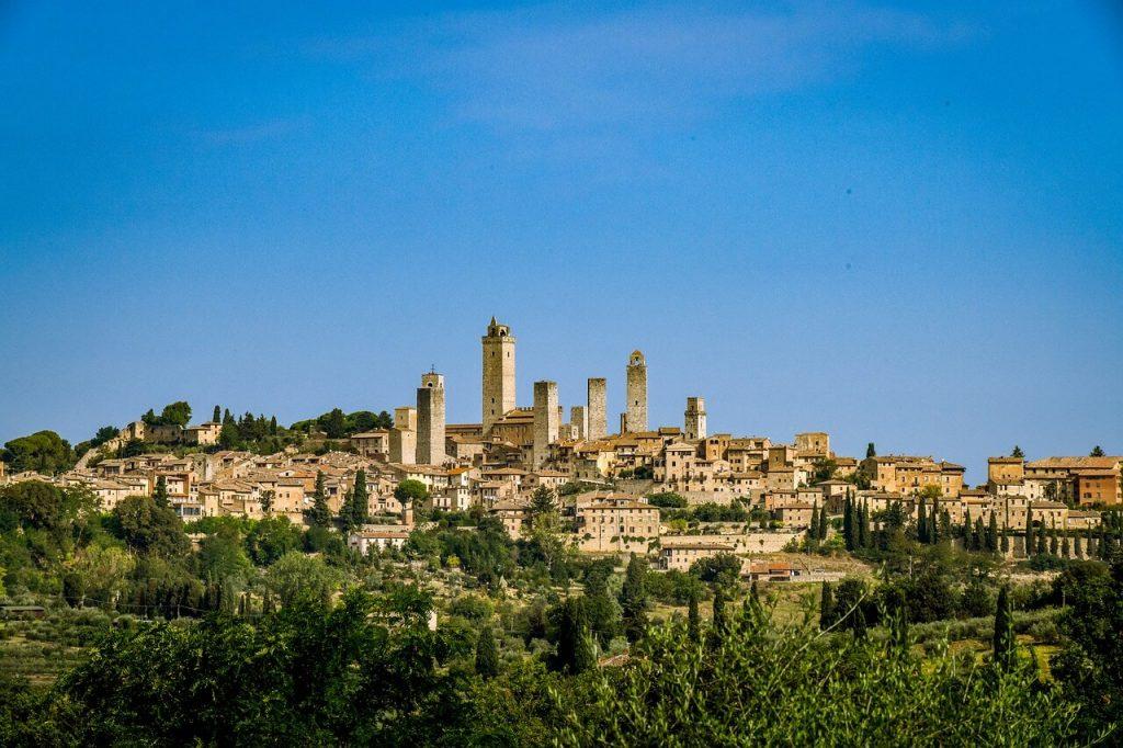 San Gimignano Panorama view Tuscany Italy