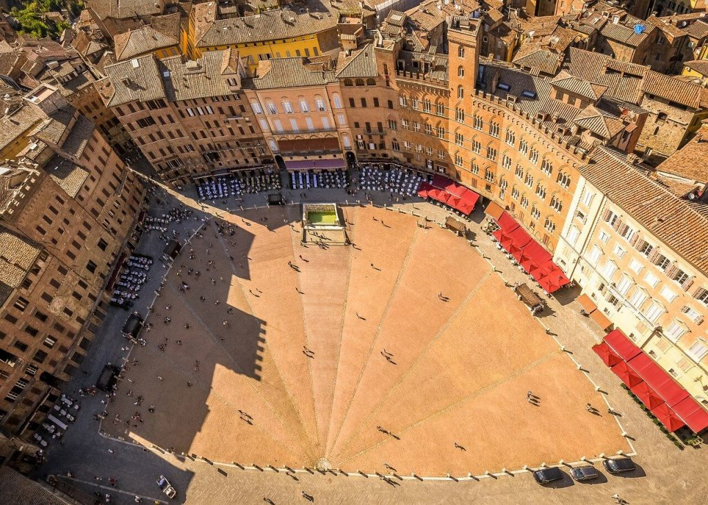 Siena Tuscany Italy Air View