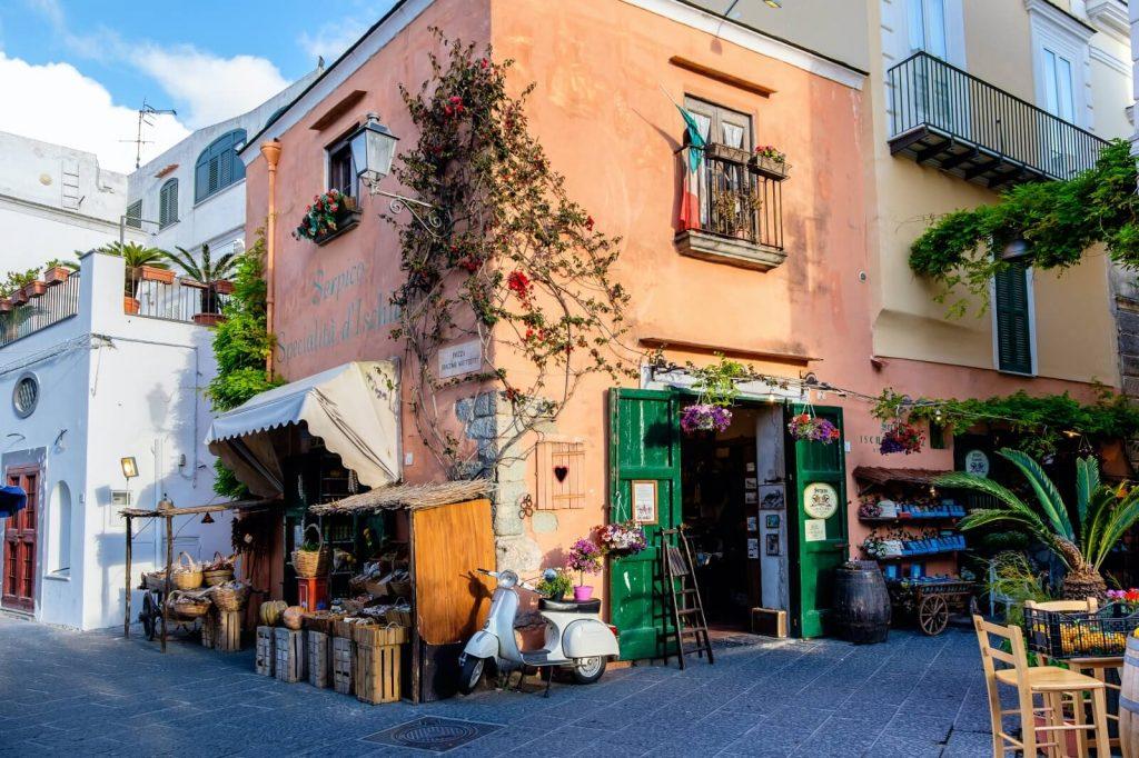 Stree Forio Ischia Italy Town