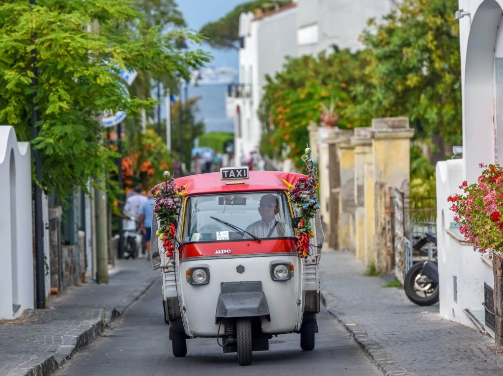Taxi Ischia Town Streets