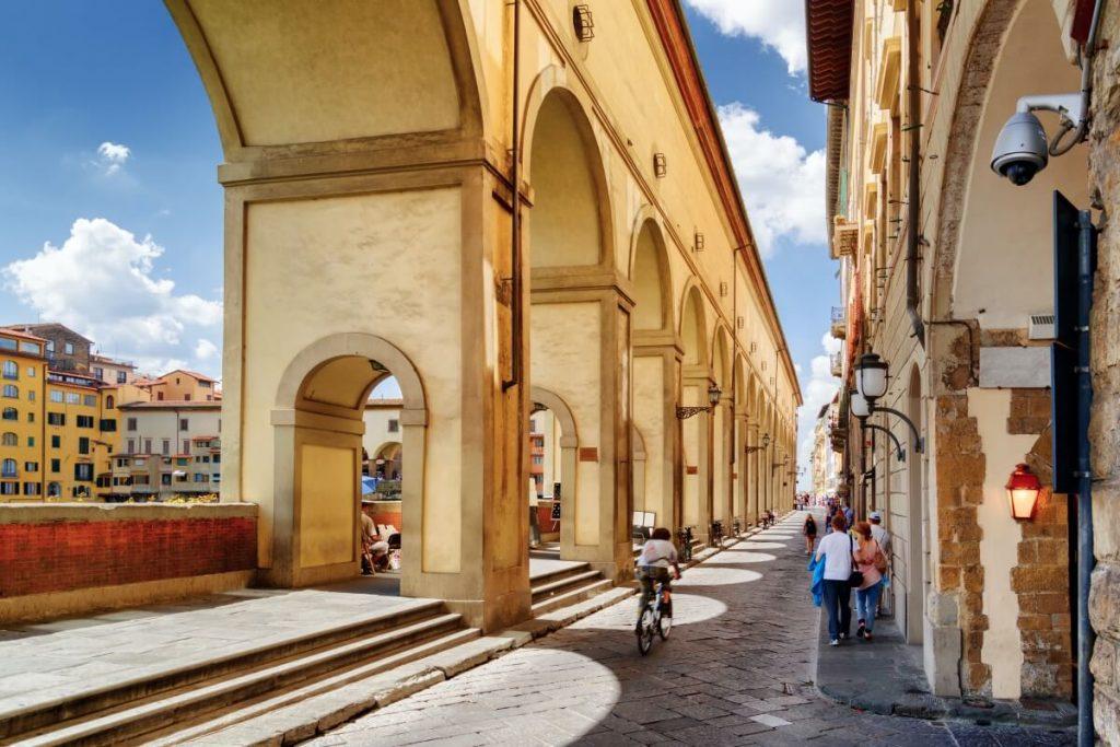Uffizi street Florence City