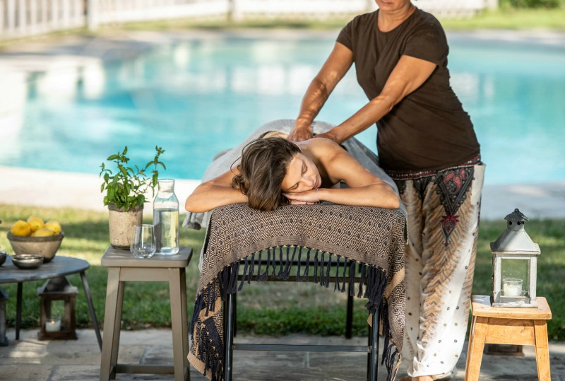 Massage by the pool